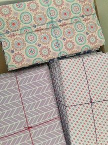 wrapped cards